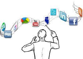 Man conducting social media