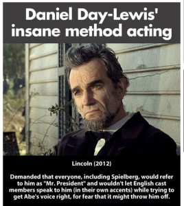 Daniel Day Lewis on playing Lincoln